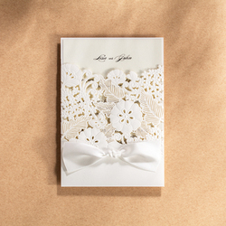 10 pieces lot elegant invitation card for wedding decorations white flowers laser cutting marriage invitations.jpg 250x250