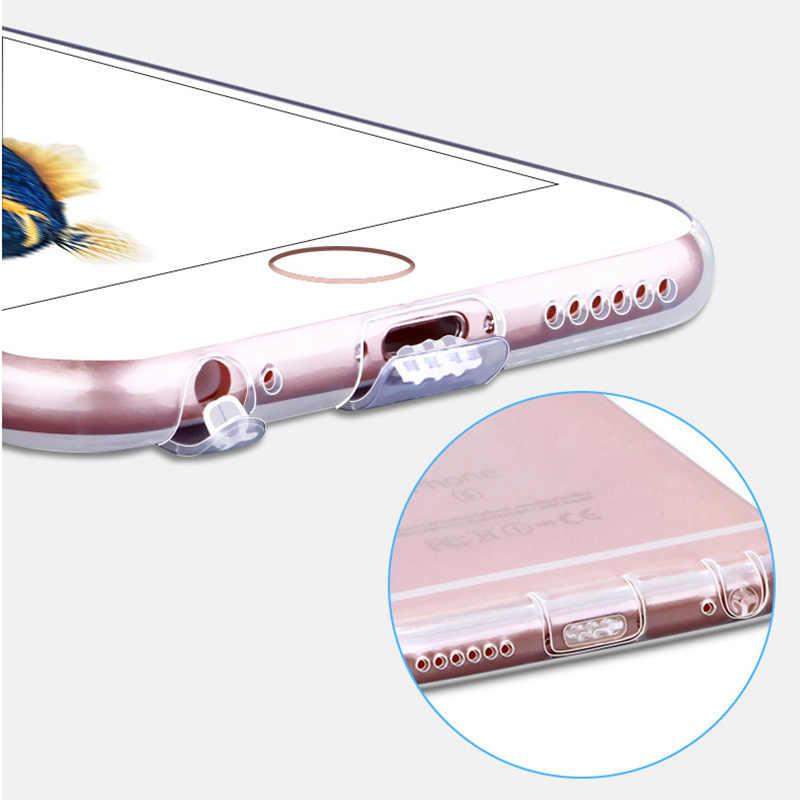 """Mới Dễ Thương Gradient Ốp Lưng Điện Thoại Iphone 6 6 S 4.7 """"6 6 S 6 S Plus 5.5"""" TPU mềm Mại Dual Dẻo Silicone Ốp Nhựa Cứng Nhám Fundas Coque"""