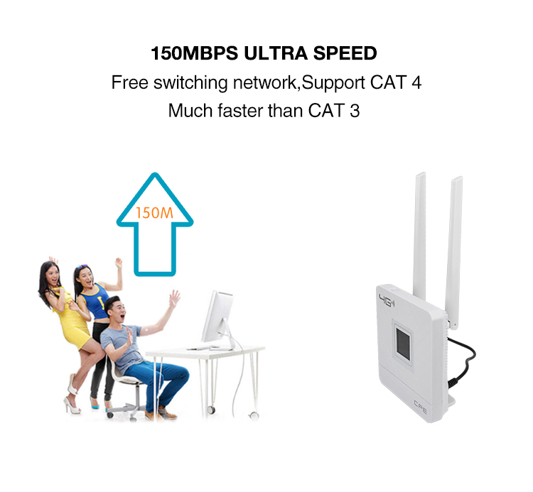 150mbps, 3g 4g, cpe, uso externo, wi-fi,