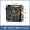 "New Arrival 1.3MP 1/3"" Sony IMX225 CMOS IP Network Camera Module Circuit Board , Embedded RTOS Dual-Core 32bit Hi3518E ,Open SDK"