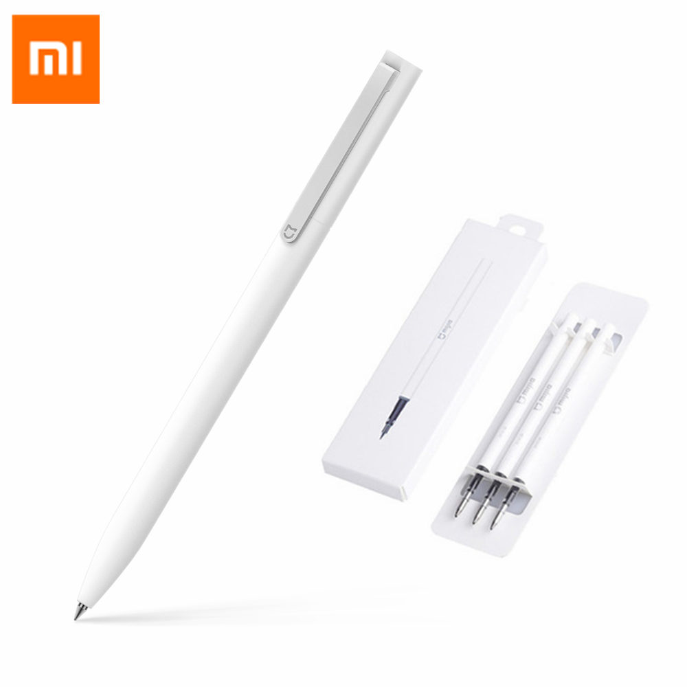 Original Xiaomi Mijia Sign Pens 9.5mm Signing Pens PREMEC Smooth Switzerland Refill MiKuni Japan Ink add Pens Black/Blue Refill original xiaomi mijia sign pens 9 5mm signing pens premec smooth switzerland refill mikuni japan ink add pens black blue refill