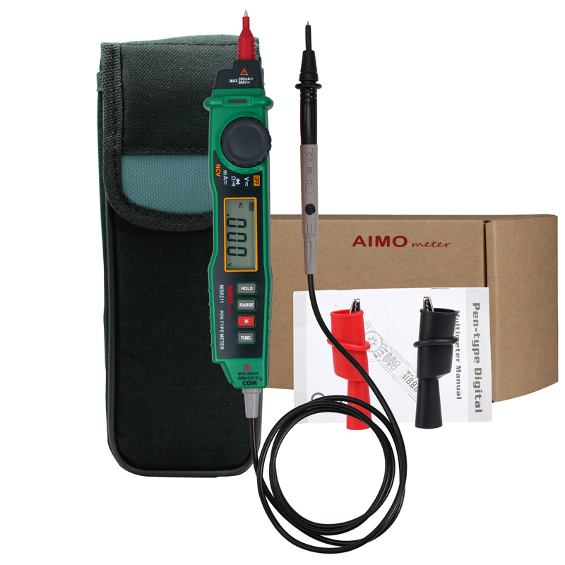 Aimometer-ms8211-all-in-one pen type multimeter with NCV detector Non contact DC / AC Voltage Current Meter Data Hold Multimeter  цены