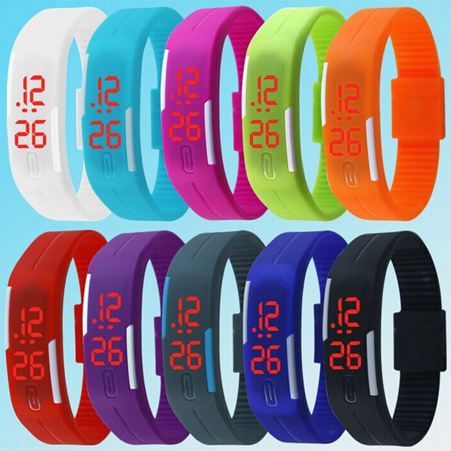 2017 New Fashion Design LED Watch Women Sports Watches Silicone Candy Multicolor Touch Screen Digital Man Wristwatch Bracelet new smart watch design