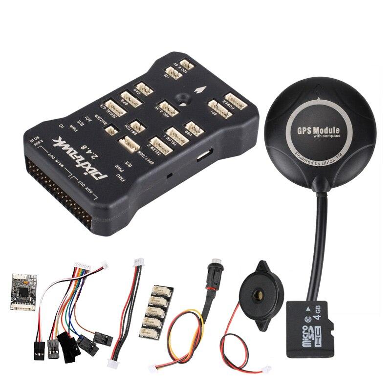 Pixhawk 2.4.8 PIX PX4 32 бит автопилот, система управления полетом 7 м gps 7 м w/4G SD зуммер безопасности переключатель + стр./мин + I2C для RC беспилотный Мульт...