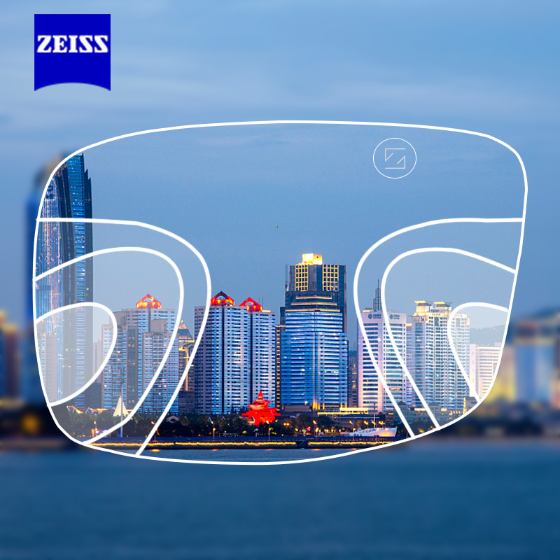 ZEISS Progressive Lens 1.50 1.60 1.67 Multifocal Glasses Lenses Customized ( Need Full Prescription Data)-in Eyewear Accessories from Apparel Accessories