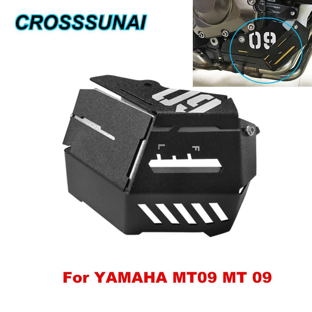 Para YAMAHA MT09 MT 09 agua depósito de recogida de refrigerante protección guardia marco radiador cubierta lateral Protector accesorios de la motocicleta