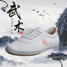 NEW! Tai Chi Kungfu Wushu training shose high quality canvas for adult children 3 colors(China)