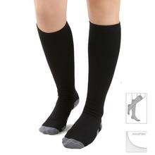 20-30 mmHg Abgestuften Kompression Socken Feste Druck Durchblutung Qualität Kniehohe Orthopädische Unterstützung Strümpfe Schlauch Socke