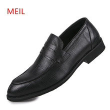купить Casual Slip On Leather Shoes Men Loafers Brand Mens Casual Boat Shoes Hot Sale Breathable Driving Shoes Chaussure Homme дешево