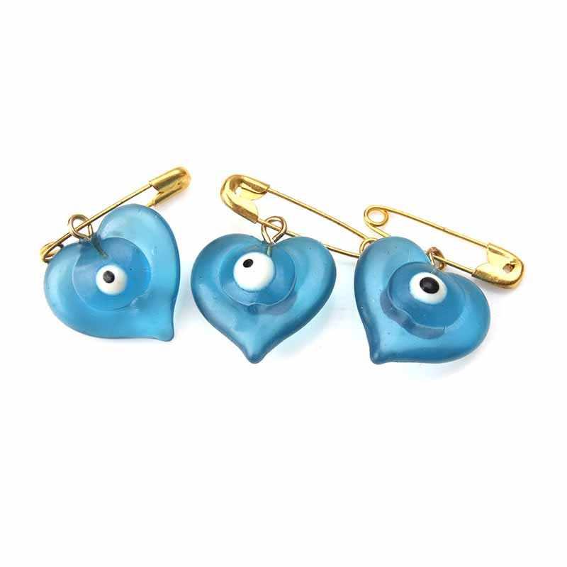 5 Pcs/lot 18*22 Mm Biru Mata Jahat Jantung Bros & Pin untuk Wanita Bros Pin Tombol Kerah Jaket kerah Pin Lencana Mata Jahat Perhiasan