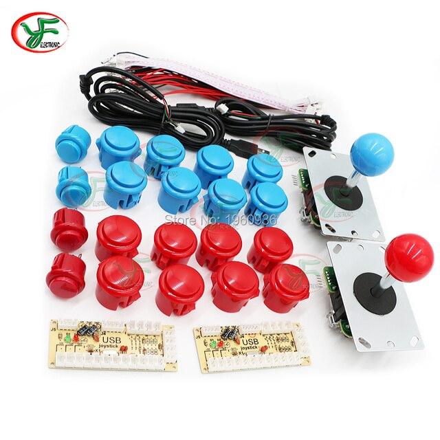 DIY Kit Mame Zero Atraso Arcade Joystick De Arcade Kit DIY Encoder USB Para PC Joystick De Arcade Sanwa + Sanwa Push botões