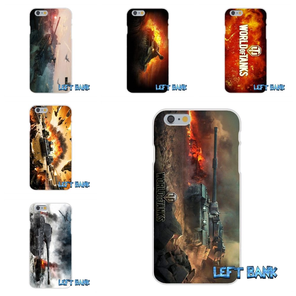 For iPhone 4 4S 5 5S 5C SE 6 6S 7 Plus Conqueror World of Tanks Soft Silicone TPU Transparent Cover Case