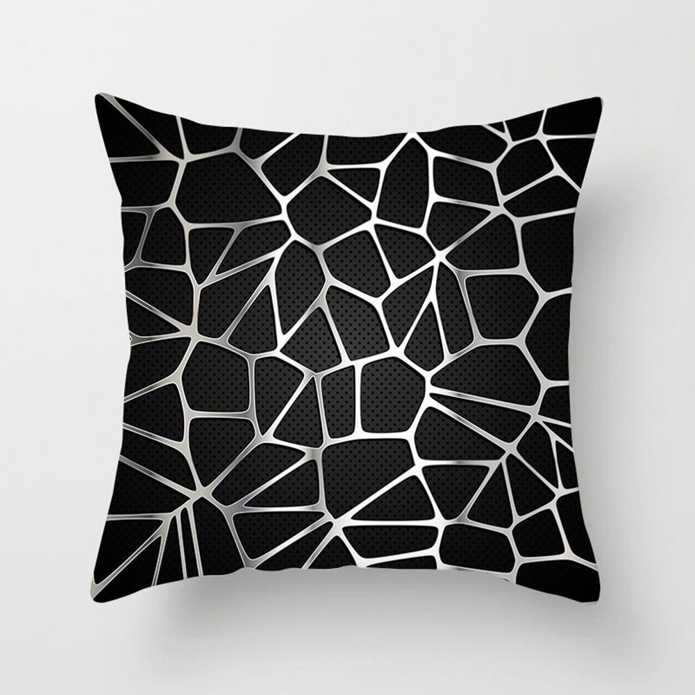 45cm X 45cm Hot Geometric Plaid Pattern Pillow Cushion Case Home Car Sofa Bed Hotel Decor