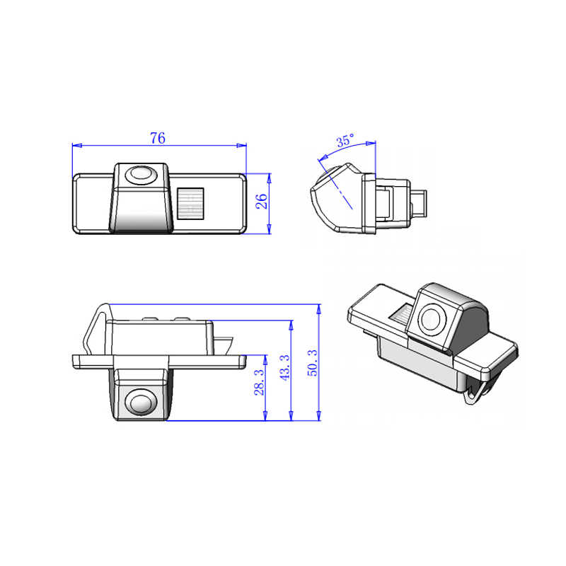 Sunny para Nissan Qashqai patrulla X-Trail HD CCD coche copia de seguridad de marcha atrás cámara de vehículo conectar con dos Din uno un Monitor de DVD GPS