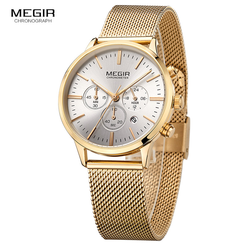 MEGIR Luxury Quartz Women Watches Brand Fashion Sport Ladies Lovers Watch Clock Relogio Feminino for Girl Female Wristwatches