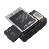 Newest Design Universal Charger With LCD Adjustable For Canon Nikon Sony Camera HTC Samsung Mobile Phone