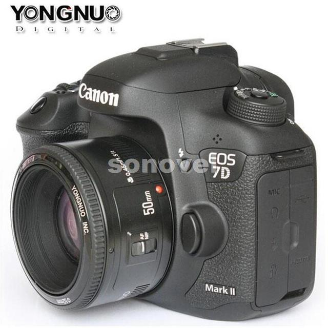 Yongnuo yn 50mm lente de gran apertura f1.8 lente de enfoque automático yn 50 yn50 para canon eos dslr cámaras