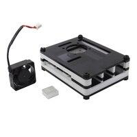 3 Raspberry Pi B + (Plus) 9 camadas Acrílico Case/Caixa/Shell com Tampa + Kit dissipador de Calor Ventilador + Ventilador de Refrigeração