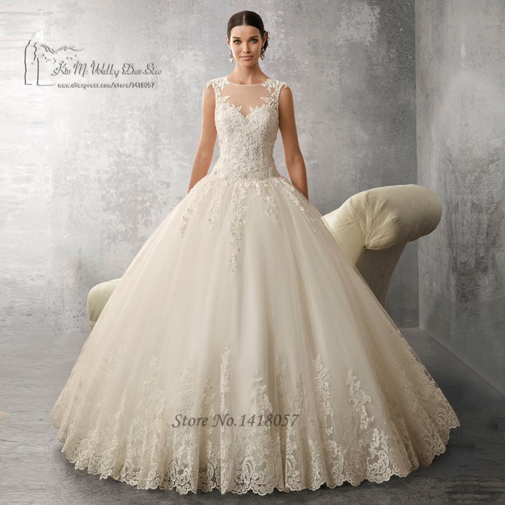 Buy elegant ball gown wedding dress ivory for Elegant wedding dresses 2017