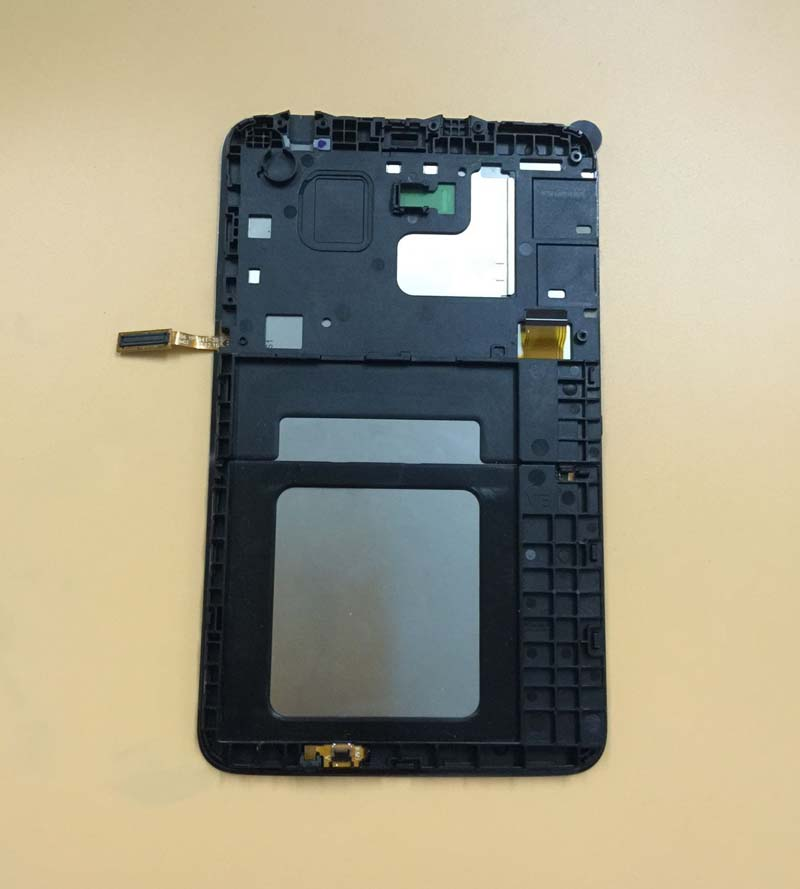 Black / White For Samsung GALAXY Tab 3 Lite SM- T113 T116 Touch Screen Sensor Digitizer Glass + LCD Display Panel With Frame free shipping touch screen with lcd display glass panel f501407vb f501407vd for china clone s5 i9600 sm g900f g900 smartphone
