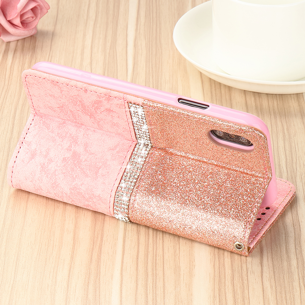 HTB1SPTNX.z1gK0jSZLeq6z9kVXaD - Bling Glitter Wallet Phone Case For iPhone X Xr Xs 11 Pro Max Leather Purse For Apple 6S 6 8 7 Plus 5 5S SE 2020 360 Girls Cover
