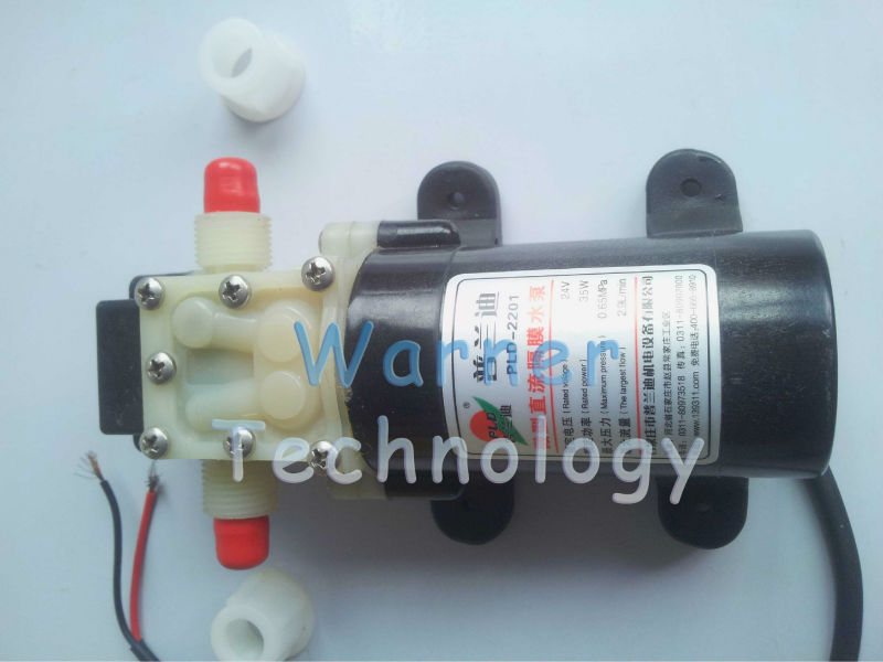 ФОТО Free shipping 2pcs/ Lot 24Vdc Micro diaphragm water pump Booster pump Absolutely safety Low noise Long life For Water treatment