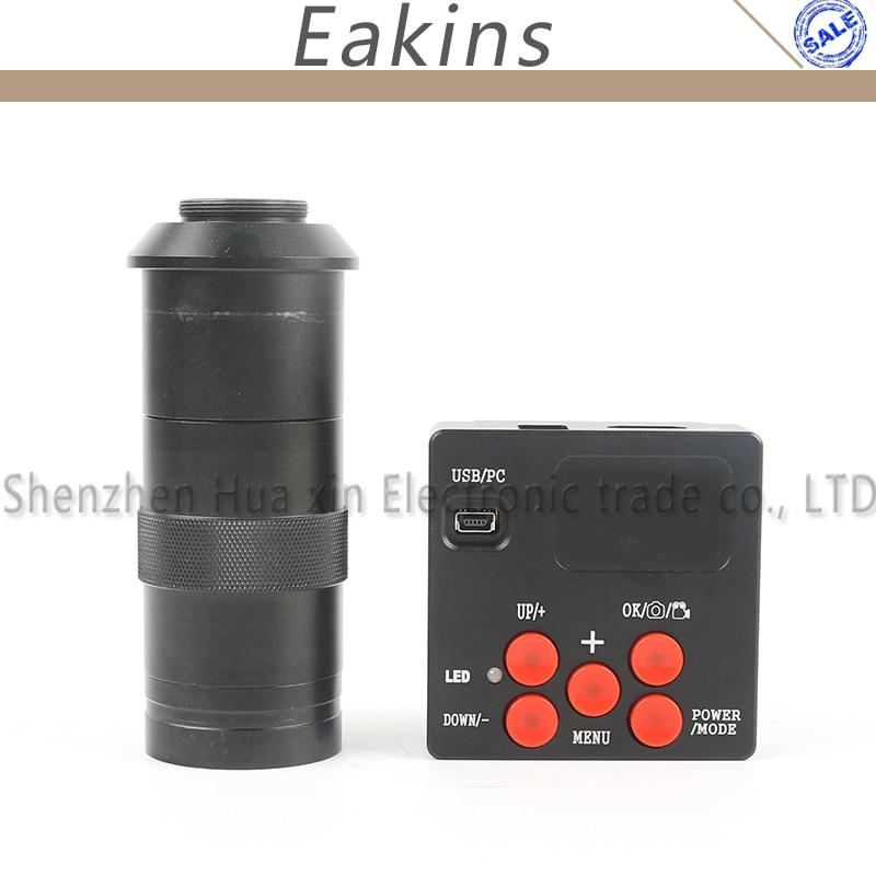 21MP 1080P HDMI USB Electronic Digital Video Industrial Microscope Camera Video Recorder +130X C-mount Lens + 4G TF + IR Remote цена