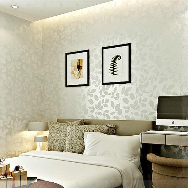 Warm Leaves 3D Wallpaper Design Living Room Bedroom Wood Fiber Wallpaper  Roll Simple Fashion Leaf Design Wallpaper 3D Wallpaper In Wallpapers From  Home ... Part 77