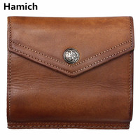 2018 Natural Cowhide Men S Purses High Quality Vintage Cow Leather Youth Wallets Leisure Genuine Leather