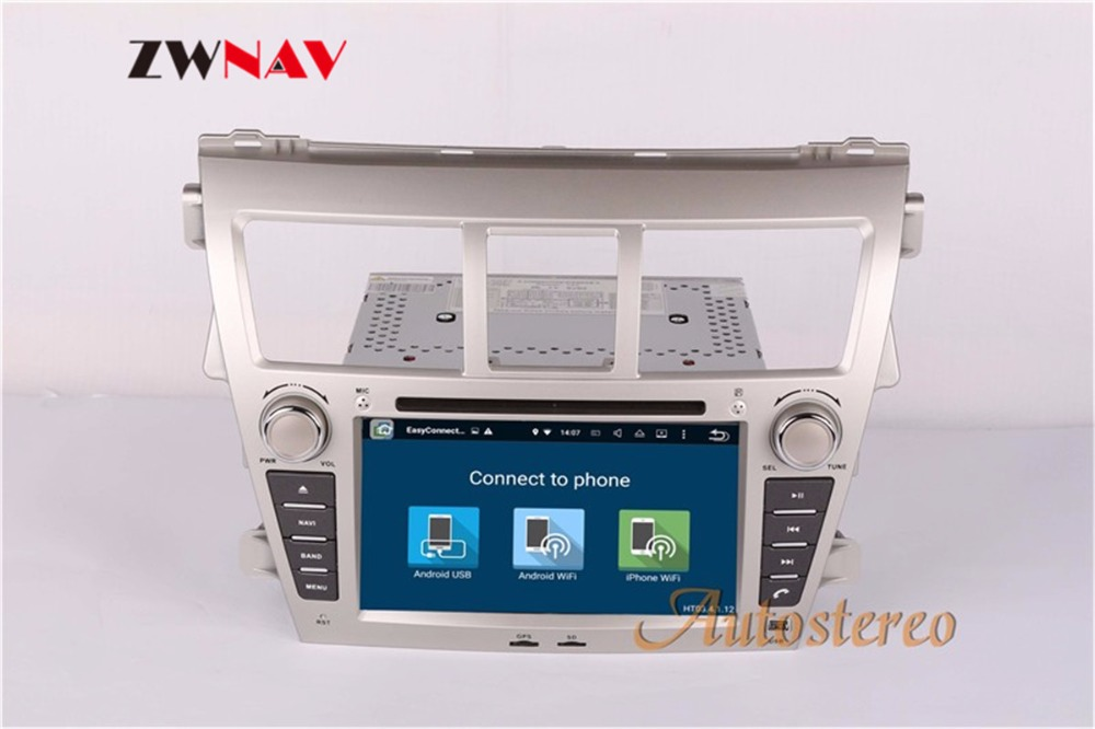 Sale ZWNAV Android 8.0 Car Stereo Radio DVD Player GPS Navigation For TOYOTA Yaris Sedan 2006-2012 Vios 2007-2012 Belta 2005-2008 4