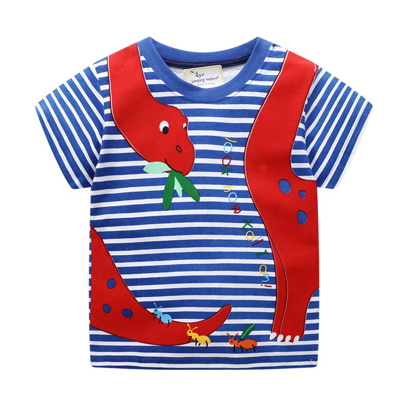 Baby Clothing 100 Cotton Short Sleeve Tops Children Boys T shirts Dinosaurs Print Cartoon t shirt for Boy Tees Shirt in T Shirts from Mother Kids