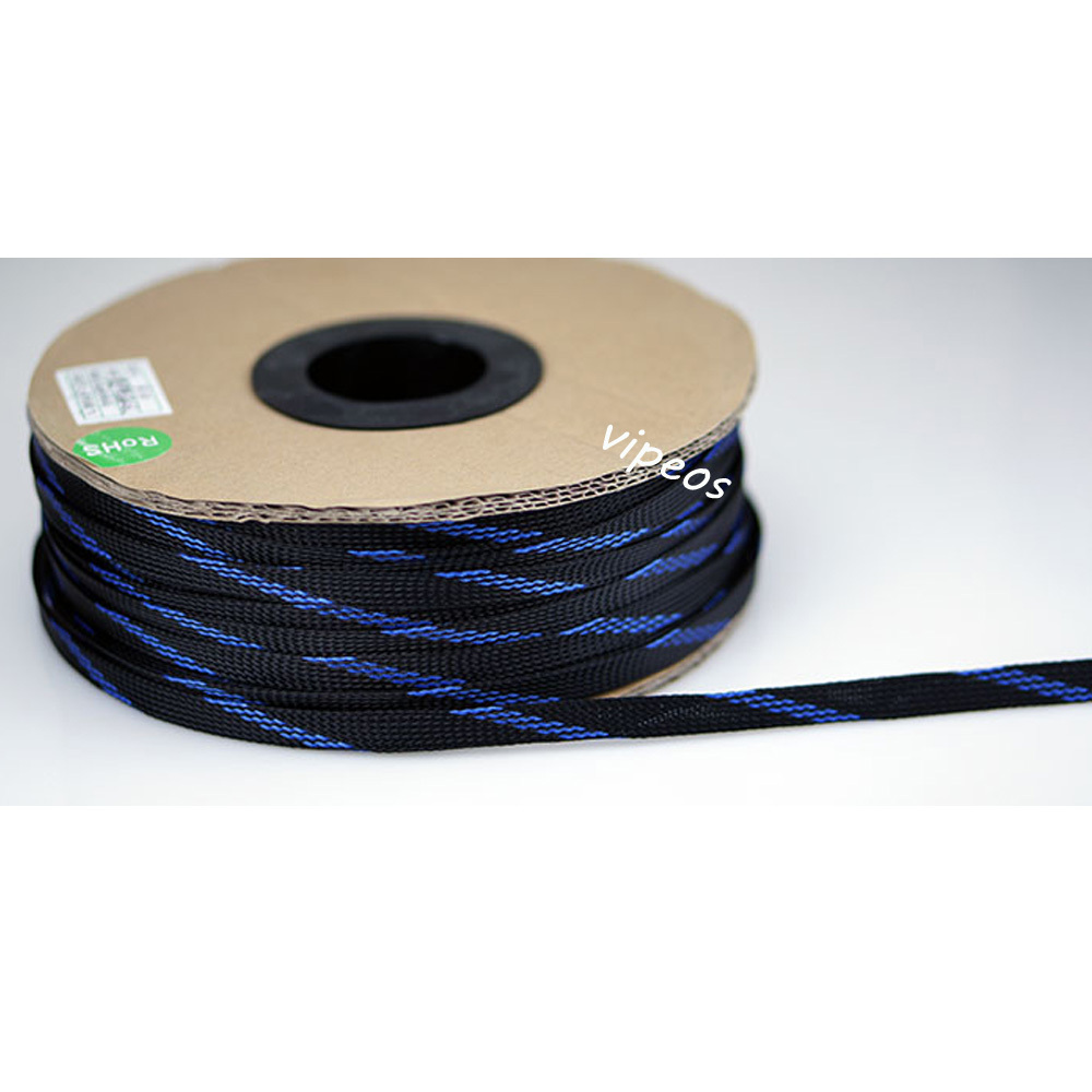 Speaker Cable Sleeve : 10m cable sleeving high density braided diameter expandable sleeve 4 14mm black blue rca cable ~ Russianpoet.info Haus und Dekorationen