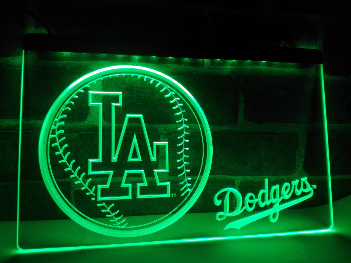 la269 los angeles dodgers baseball led neon light sign home decor crafts in plaques signs from. Black Bedroom Furniture Sets. Home Design Ideas