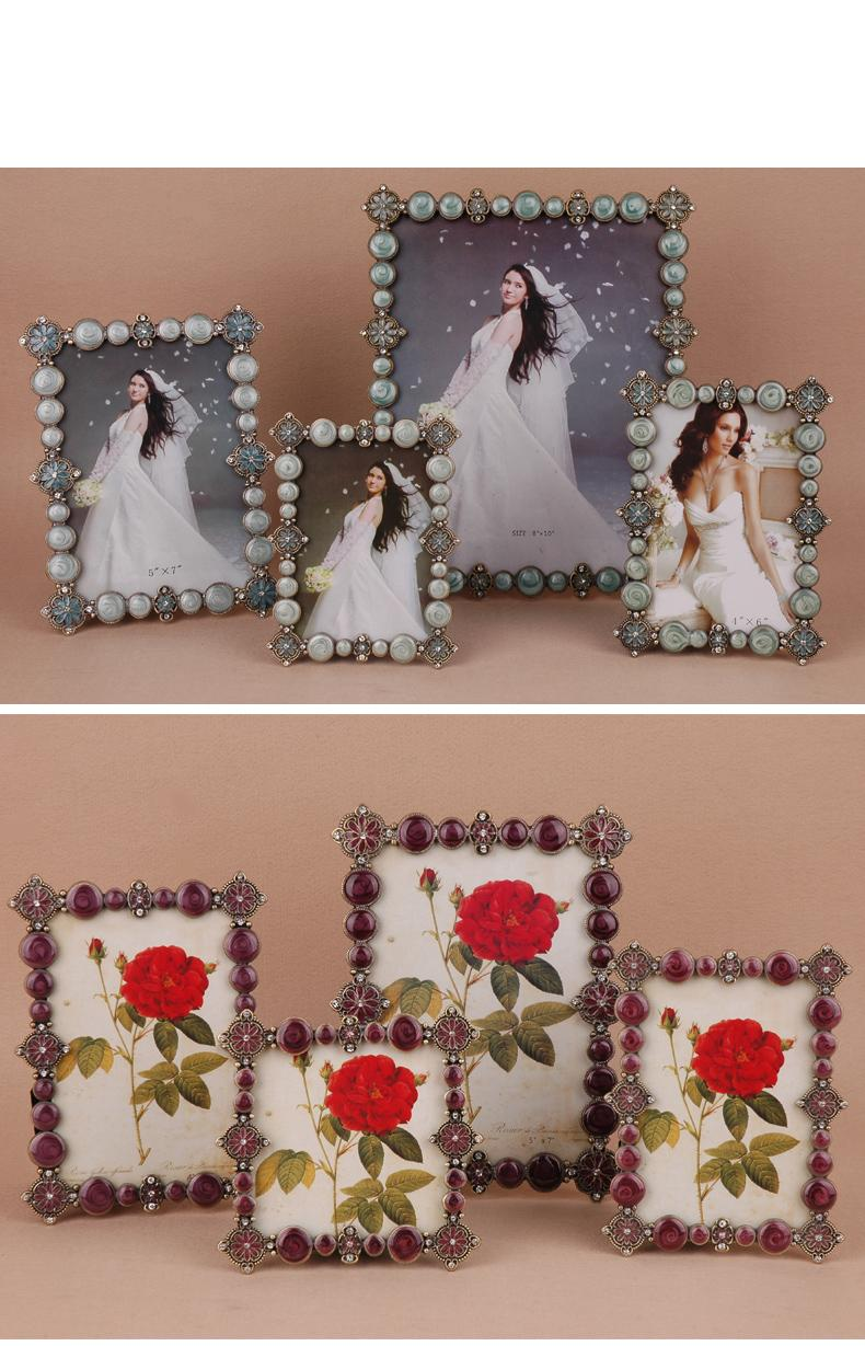 Creative European vertical and horizontal dual-use stage metal photo frame 4 inch 5 6 7 10