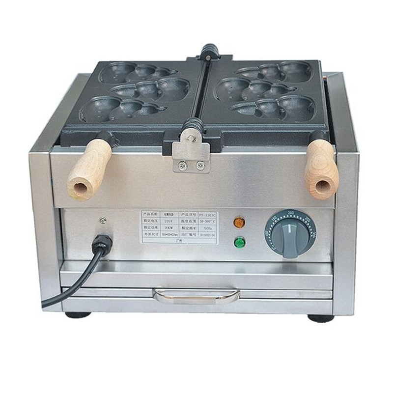 110V 220V Commercial Non-stick Shit Shaped Bread Baking Machine Taiyaki Machine Waffle Maker Snack Equipment For Shop