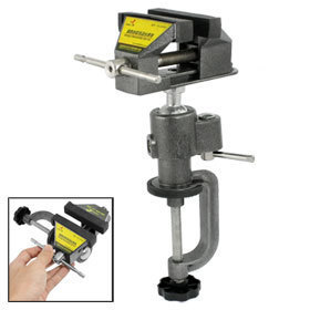 Angle Adjustable Jewellers Rubber Pads Hobby Bench Vise Table Vice 50mm