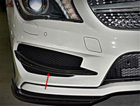 Carbon Fiber Front Bumper Trim For Mercedes Benz CLA Class C117 CLA250 CLA200 2014 2015 4 Door Sedan Fog Light Lamp Cover