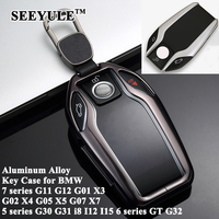 SEEYULE Car LED Display Key Case Cover Accessories for BMW 5 7 series G11 G12 G30 G31 G32 X3 G01 X4 G02 X5 G05 X7 G07 i8 I12 I15