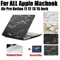Fashion Marble Print Matte Hard Protector Case For MacBook Air 11 12 13 Pro 13 15
