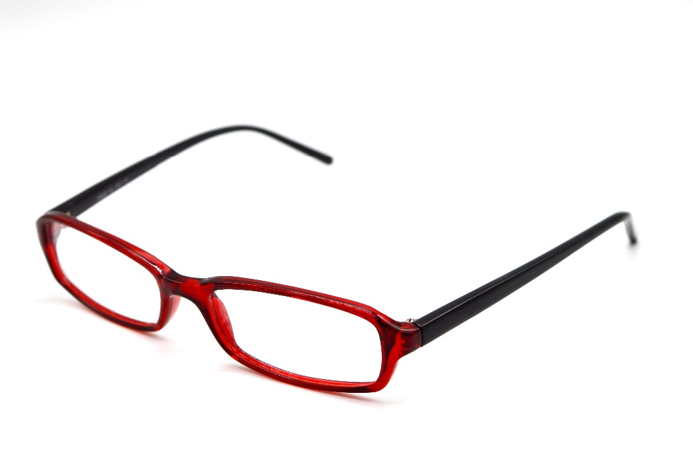 [CORAL RED HAND MADE GLASSES SUPER NARROW GLASSES ...
