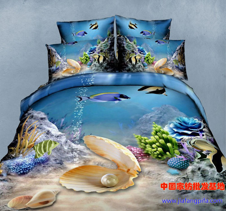 Matrimonio Bed Ocean : D blue ocean comforter bedding set queen size duvet quilt