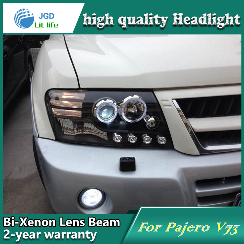 Car Styling Head Lamp case for Mitsubishi Pajero V73 Headlights LED Headlight DRL Lens Double Beam Bi-Xenon HID Accessories yuzhe leather car seat cover for mitsubishi lancer outlander pajero eclipse zinger verada asx i200 car accessories styling