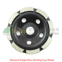4 Diamond Grinding Disc Single Row Cup Wheel For Abrasive Material 30 40 Coarse Fast Working