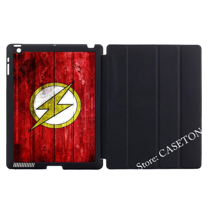 The Flash Retro Comics Hero Stand Folio Cover Case For iPad Mini 1 2 3 4 Air Pro 9.7 Auto Wake Sleep stylish round neck epaulet design long sleeves wool blend sweater for men