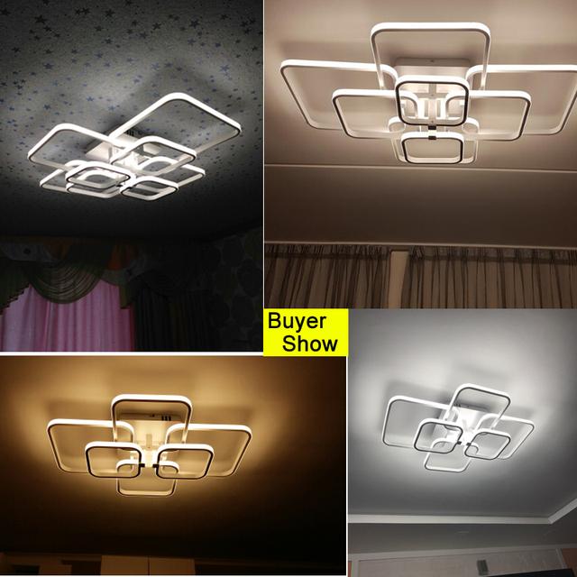 nowoczesny LED Żyrandol z pilotem lampy akrylowe do salonu sypialnia Strona główna żyrandol sufitowe oprawy Darmowa wysyłka