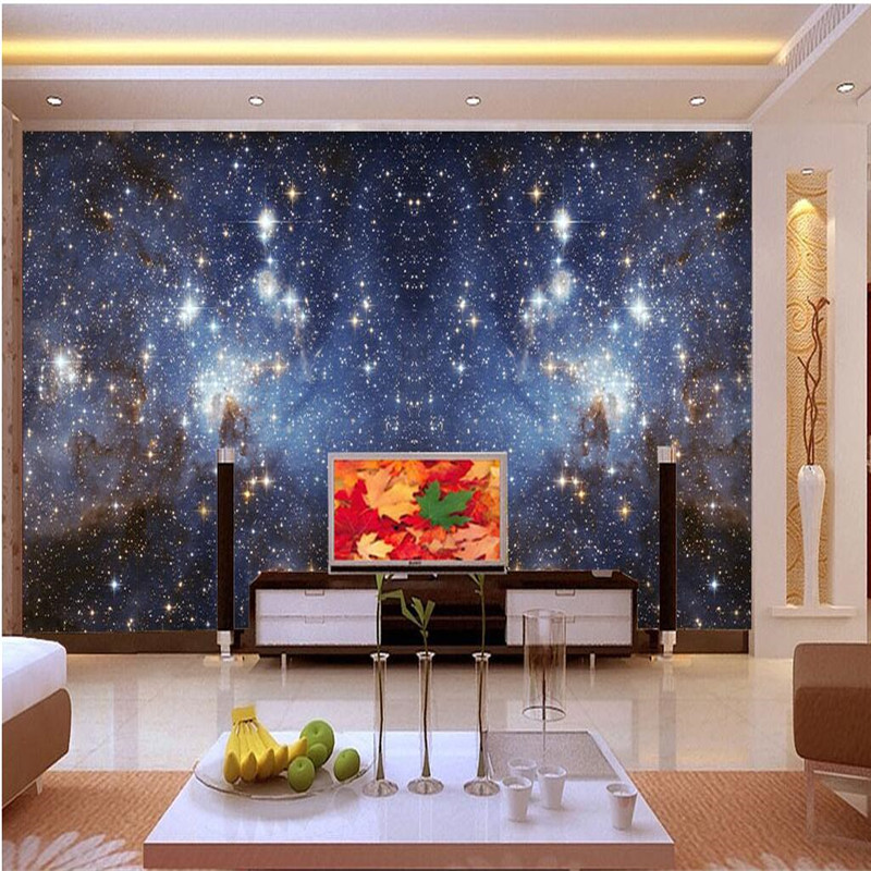 Wall Wallpaper Photo Living Room Bedroom Background Photography Milky Way Constellation Paper Mural Murals Papel De Parede In Wallpapers From Home