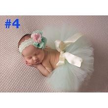 NEW Princess Baby Tutu with Matching Flower Headband Set Newborn Photography Props Little Girl baby Tutu