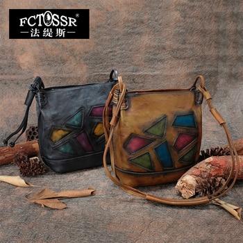 Office Lady Handbag 2018 Handcrafted Genuine Leather Women Shoulder Sling Bags High Quality Messenger Bag
