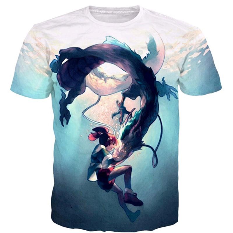 Hot Newest Style Classic Anime Spirited Away tshirts Cartoon Character Ogino Chihiro 3D print Men Women Summer Casual t shirt