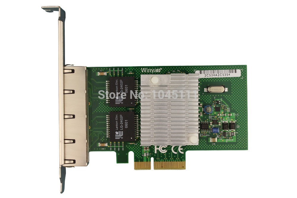 все цены на Winyao WY580-T4 PCI-e X4 4-Port Intel 82580 Gigabit Ethernet Network Adapter NIC Aggregation Routing Software I340T4 intel82580 онлайн